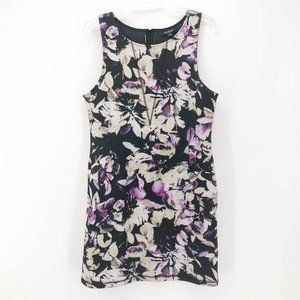 Allen B Schwartz Womens Shift Dress Black Purple L